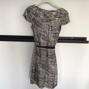 Grey patterned dress